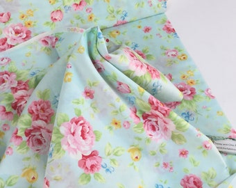 Antique Flower Collection 31420-10 Blue Background ~ Lecien Japan Lightweight Quilt Cotton Collection