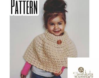 CROCHET PATTERN | Cowl Neck Cloche Poncho | Cowl Poncho Pattern | Easy Crochet Poncho Pattern | | Child to Adult Size | PDF Digital Download