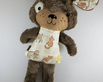 Furry Puppy Plush  - Stuffed Dog - Ready to Ship