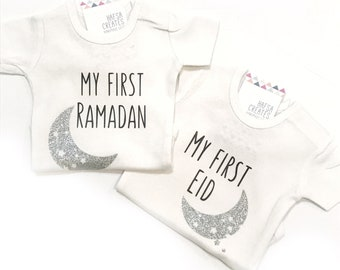 My first Ramadan & Eid Bodysuit for children, Ramadan gift, Eid Decor