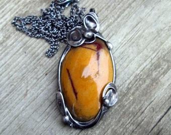 Handmade pendant with   jasper
