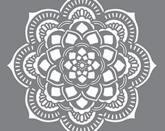 "18"" x 18"", Americana Decor Stencils, Mandala, Reusable Stencil"