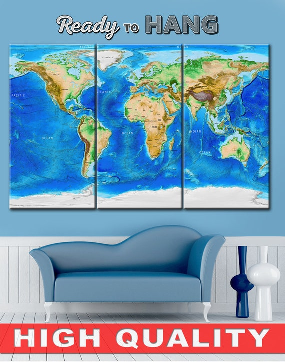 Split canvas world map canvas wall art world map canvas gumiabroncs Image collections