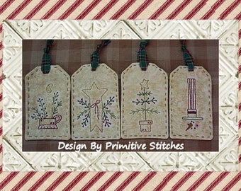 Winter Days Mini Collection 1-Primitive Stitchery Pattern by Primitive Stitches-Instant Download