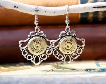 Choice 45 Colt Bullet Earrings-Winchester 45 Colt Bullet Earrings-45 Colt Bullet Jewelry-WW 45 Colt Earrings-45 Colt Dangle Earrings