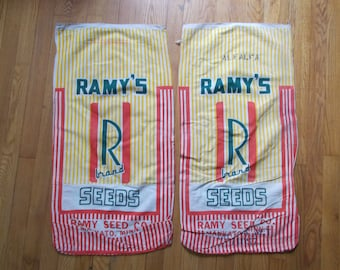 Vintage Feed Sacks Grain Sacks