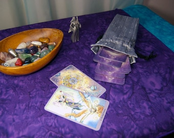 Orchid Rains Purple Tarot / Altar Cloth