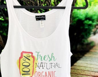 100% Organic Tank Top, Natural