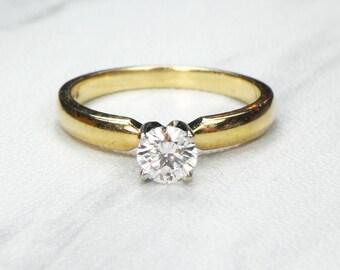Vintage Diamond Engagement Ring Diamond Ring High Quality Diamond Ring Traditional Engagement Ring Diamond Ring Approx 1/2 Carat 14k Gold