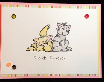 Friends Fur-ever (Forever) Greeting Card