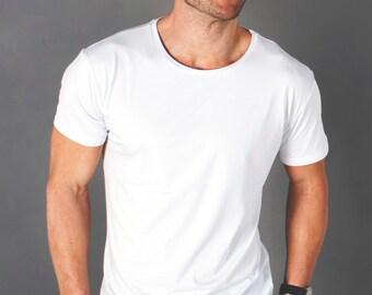 Men's Bamboo Tee Shirt - Classic White