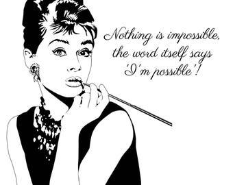 Audrey Hepburn Quote - Wall Art Printable