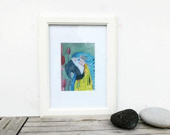 Macaw, Art Print, Wall Decor, Kids Art, Nursery Decor, Wall Art, Colorful Art, Animal Art, Art Gift, Parrot Painting, choose fm 3 sizes