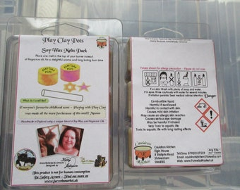 Play Clay Pots Scented Soy Wax Melts Pack