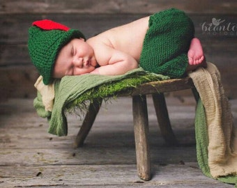 Baby Crochet Clothes Infant Photo Crochet, Newborn Props Boy, Baby Boy Costume Newborn Character Set Baby Anime Cosplay