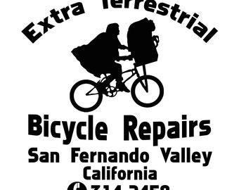 ET Extra Terrestial Bike Repair Shop SVG