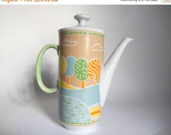 Sale - Mid Century 1960's The Little Farm by Shufford Porcelain Teapot