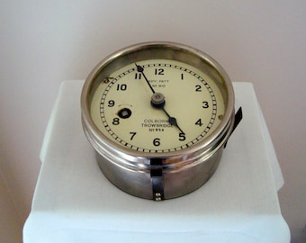 Vintage 1940s WW2 Maritime Plotting Table Clock.  British Admiralty Pattern No. 810. Bakelite and Brass. Royal Navy.