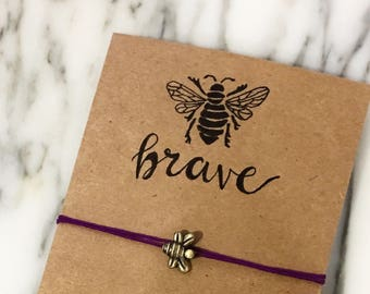 Bee Magical Wish Bracelets (Bee Brave)