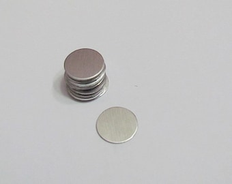 """1/2"""" Aluminum disc- 20 gauge - hand stamping blanks 5 or more"""