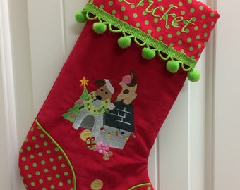 Personalized Christmas Stockings, Embroidered Handmade Stockings,  Family Stockings, Pet Stockings, Many Fabrics, Designs, & Trims