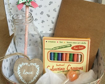Childrens Vintage Style Activity Suitcase Set - a perfect gift to keep the little guests entertained!