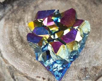 Titanium Aura Amethyst