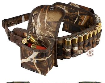 Cartridge Belt Case, Bandolier Cartridge Holder, Ammo Pouch, Hunting Bandoleer Shotgun Shell Holder 12 16 Gauge