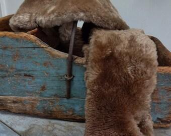Vintage Imitation Brown Fur Pieces