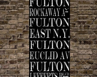 New York Subway Sign Art Fulton