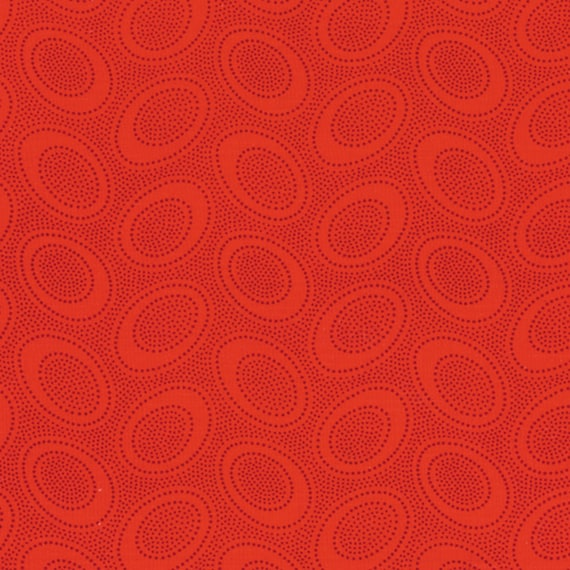 ABORIGINAL DOT Red GP71 by Kaffe Fassett Collectives sold in 1/2 yd increments