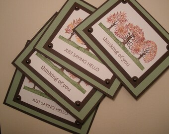 Fall themed Hello-Thinking of You Card Set