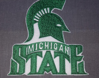 5 Inch Michigan State Iron on No Sew Embroidered Patch Applique