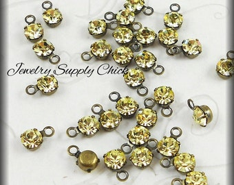 Jonquil crystal 4mm drop (x12)