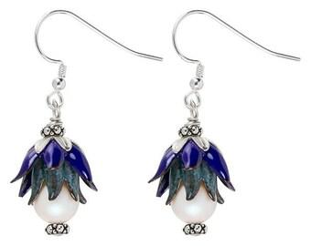 Blue Bellflower Earrings