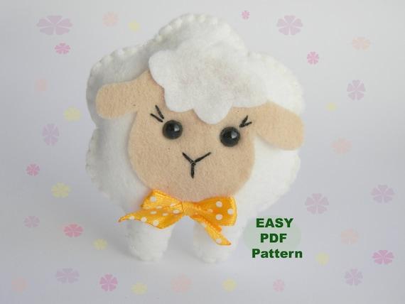 Amigurumi Sheep Baby Mobile : Pdf felt sheep pattern sewing pattern cute lamb toy farm animals