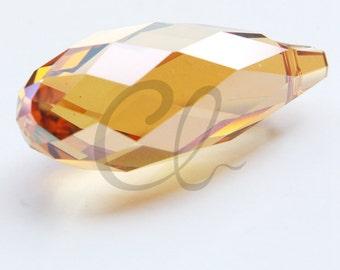 One Piece Swarovski Drop 6010 Briolette-Copper Crystal 50x21.5mm (SW1103001)*
