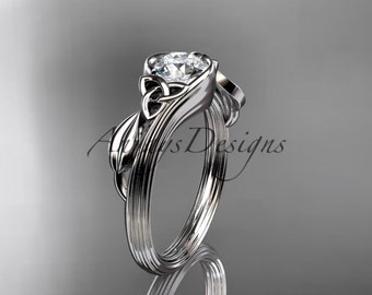 medium jewelry wedding knot irish fado ring pierced gold karat rings celtc knots celtic