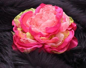 Bridal Flower tutorial Fabric flower TUTORIAL Barrette Headband Fabric Flower Tutorial DIY Fabric Flower Pattern Tutorial Cabbage Rose