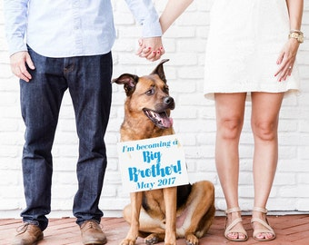 """Big Brother Sign """"I'm Becoming A Big Brother"""" Due Date Month 