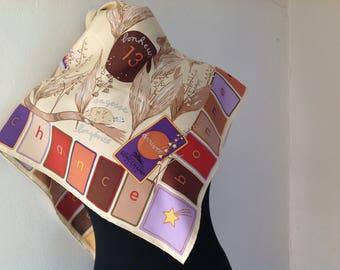 vintage scarf, Longchamp,