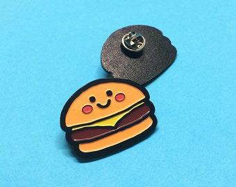 Burger enamel pin-button-decoration-metal-food-gift
