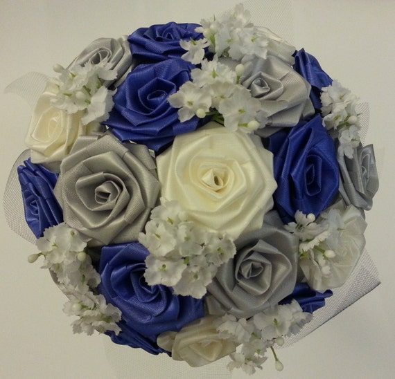 Items similar to CREATE YOUR OWN Ribbon Flower Bouquet/ Bridal ...