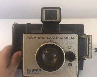 Vintage Polaroid Land Camera Super Color Pack Cold Clip Flash