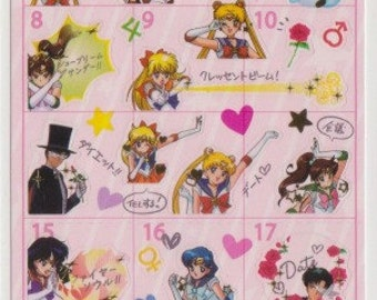 Sailor Moon Schedule Stickers - Reference A6498