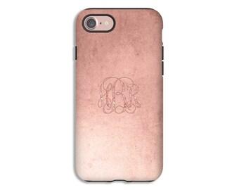 Monogram iPhone 8 case/8 Plus case, rose gold  iPhone 7/7 Plus case, iPhone X case, iPhone 6s/6s Plus/6/6 Plus cases, Valentine gift