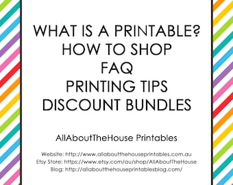 HOW TO SHOP Information Faq AllAboutTheHouse Printing tips discount bundles colour changes font changes customisation discount bundles