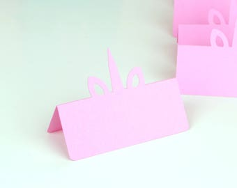Unicorn Ears and Horn Place Cards Set of 24