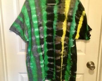 XL Striped Tie Dye T
