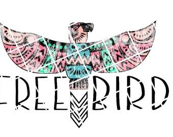 Free Bird Aztec Ready to Press Transfer Sublimation and Iron On Vinyl